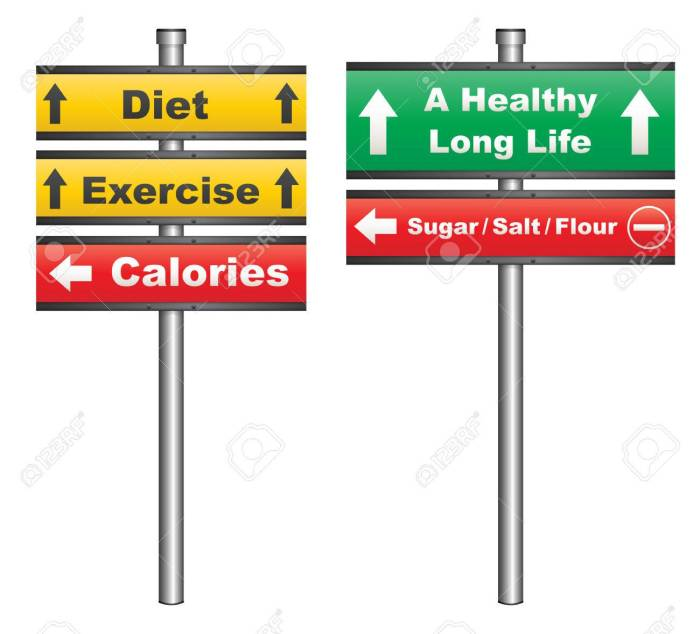 Diet and exercise for a healthy life