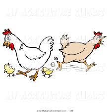 running-hen
