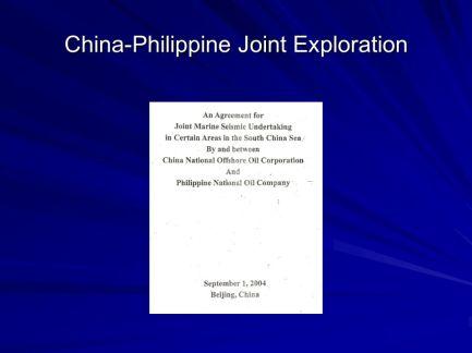 China-Philippine Joint Exploration