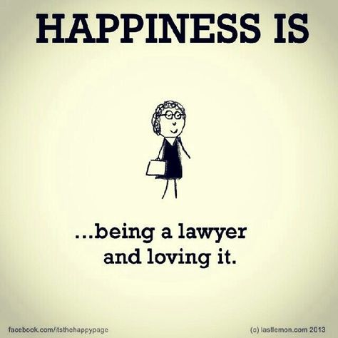 HAPPY AS LAWYER