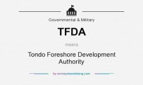 TFDA means - Tondo Foreshore Development Authority