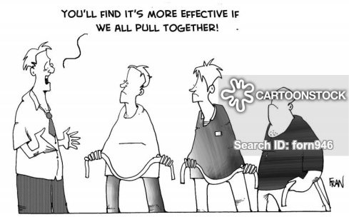 """""""You'll find it's more effective if we all pull together."""""""